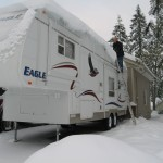 Storing an RV for the winter.