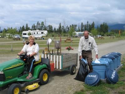 RVers enjoying their campground job
