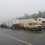 Truck and fifth wheel waiting for BC Ferries