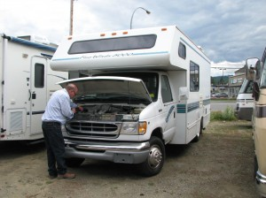 Buying a used RV - check under the hood