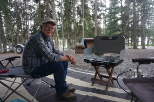Full-time RVing - cooking outdoors